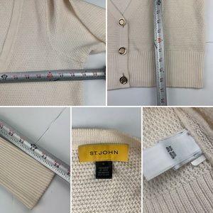 St. John Sweaters - ST. JOHN Ivory Santana Knit Cardigan Cropped